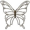 Plastec Bella Butterfly Wall Décor
