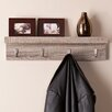 Wildon Home ® Alex Wall Mount Shelf with Hooks
