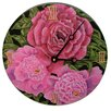 "Lexington Studios Home and Garden 18"" Peonies Wall Clock"