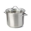 <strong>Contemporary Stainless Steel Stock Pot with Lid</strong> by Calphalon