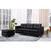 Detroit Convertible Sectional Sofa and Ottoman