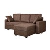 Gold Sparrow Aspen Convertible Sectional with Right Facing Chaise