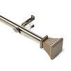 Rod Desyne Trumpet Steel Curtain Rod and Hardware Set