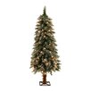 General Foam Plastics 4' Frosted Alpine Christmas Tree with 70 Clear Lights