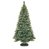 <strong>General Foam Plastics</strong> 7' Frosted Pine Christmas Tree with 500 Clear Lights