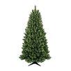 "General Foam Plastics 78"" Half Evergreen Artificial Christmas Tree"