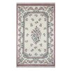 <strong>French Country Aubusson Ivory/Rose Floral Rug</strong> by American Home Rug Co.