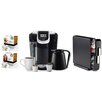 Keurig 2.0 K350 Brewing System with Countertop Storage Drawer, Starbucks Breakfast Blend K-Cups and Starbucks House Blend K-Cups
