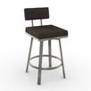 "Amisco New York Style Staten 30"" Swivel Bar Stool"