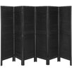 "Oriental Furniture 67"" x 100"" Tall Modern Venetian 6 Panel Room Divider"