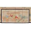 "Oriental Furniture 18"" x 36"" Riverside Serenity 4 Panel Room Divider"