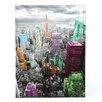 Oriental Furniture Highlights of New York Skyline Graphic Art on Canvas