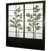 Bamboo Tree Shoji Sliding Door Kit in Black