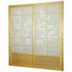 Bamboo Tree Shoji Sliding Door Kit in Natural