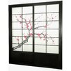 "Oriental Furniture 83"" x 73.5"" Cherry Blossom Shoji Sliding Room Divider"