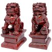 <strong>Oriental Furniture</strong> 2 Piece Fu Dog Figurine Set