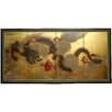 Oriental Furniture Dragon in The Sky 4 Panel Room Divider