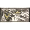 """Oriental Furniture 24"""" x 48"""" Dragons In The Clouds 4 Panel Room Divider"""