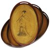 <strong>Oriental Furniture</strong> Lady Playing Flute Tray (Set of 3)