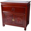 <strong>Oriental Furniture</strong> Bedside Cabinet in Cherry