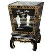 Oriental Furniture Lacquer Square Planter