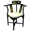 Oriental Furniture Corner Fabric Side Chair