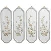 Oriental Furniture 4 Piece Birds and Flowers Curved Wall Décor Set