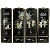 <strong>Oriental Furniture</strong> 4 Piece Mother of Pearl Ladies Wall Décor Set