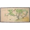 """Oriental Furniture 36"""" x 72"""" Birds and Flowers in the Garden 4 Panel Room Divider"""