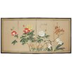 "Oriental Furniture 36"" x 72"" Butterflies in The Garden 4 Panel Room Divider"