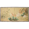 Oriental Furniture Geese in The Water 4 Panel Room Divider