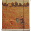 Oriental Furniture Poppies Bamboo Roller Blind