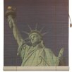 Oriental Furniture Statue of Liberty Bamboo Roller Blind