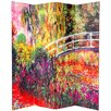 "<strong>Oriental Furniture</strong> 70.88"" x 63"" Double Sided Works of Monet 4 Panel Room Divider"
