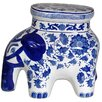 <strong>Oriental Furniture</strong> Cherry Blossom  Elephant Stool