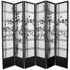 "<strong>Oriental Furniture</strong> 83.5"" x 86"" Double Cross Shoji Bamboo Tree 6 Panel Room Divider"