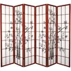 "<strong>Oriental Furniture</strong> 70.25"" x 85"" Lucky Bamboo 6 Panel Room Divider"