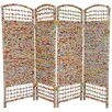 "<strong>Oriental Furniture</strong> 47.75"" x 63"" 4 Panel Room Divider"