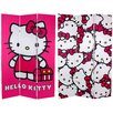 "Oriental Furniture 71"" x 47.25"" Tall Double Sided Hello Kitty 3 Panel Room Divider"