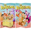 "Oriental Furniture 71"" x 47.25"" Tall Double Side Flintstones 3 Panel Room Divider"
