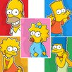 <strong>Oriental Furniture</strong> The Simpsons Family 5 Piece Graphic Art on Canvas Set