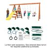 Ready To Build Custom Pioneer Playground Basic Swing Set Hardware Kit - Project 150