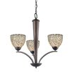 <strong>Woodbridge Lighting</strong> North Bay 3 Light Chandelier with Mosaic Bell Glass