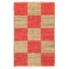 LR Resources Red/Brown Area Rug