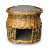 Snoozer Pet Products Wicker Double Decker Irish Cork Cat Basket and Bed