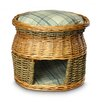 Snoozer Pet Products Wicker Double Decker Sage Plaid Cat Basket and Bed