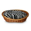 Snoozer Pet Products Luxury Wicker Zebra Micro Dog Basket and Bed