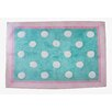 My Baby Sam Pixie Baby Aqua Polka Dot Kids Rug
