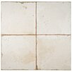 "EliteTile Royalty Manhattan 17.75"" x 17.75"" Ceramic Glazed Tile in White"
