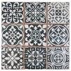 """EliteTile Faventie Nero 13"""" x 13"""" Ceramic Glazed Tile in Black"""